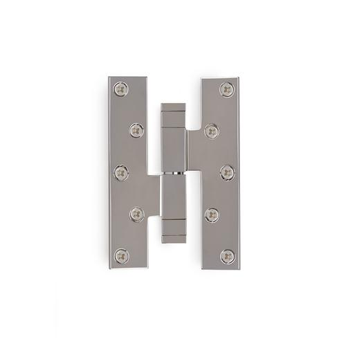 Polished Nickel Modern Square Paumelle Hinge