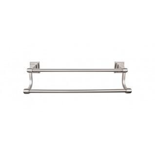 Top Knobs - Stratton Bath Towel Bar 30 Inch Double - Brushed Satin Nickel