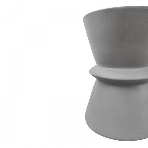 VIG Furniture - Modrest Ramos Modern Grey Concrete Round Stool