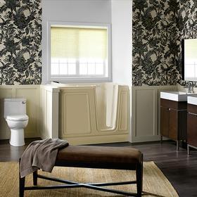 Luxury Series 30x51-inch Walk-In Whirlpool Tub  Right-hand Drain  American Standard - Linen