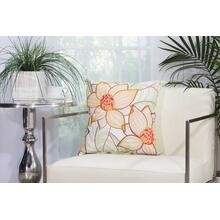 "Outdoor Pillows L3161 White 18"" X 18"" Throw Pillow"