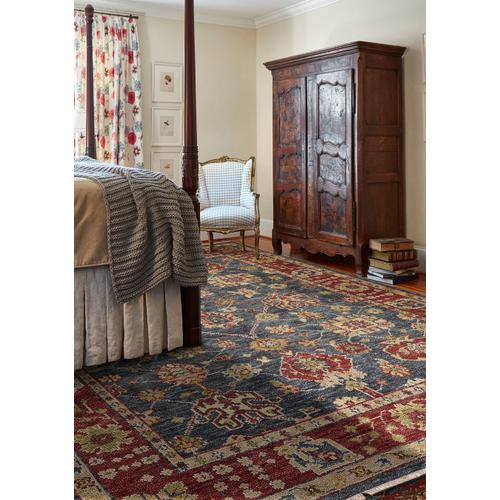 Charise-Peshawar Slate Ruby Hand Knotted Rugs