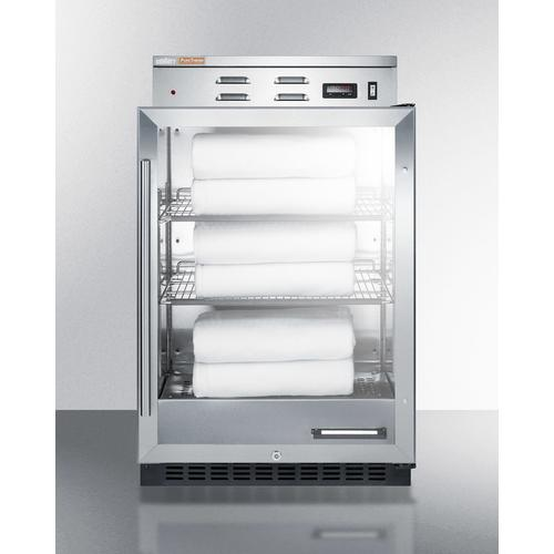 Product Image - Single Chamber Warming Cabinet With Glass Door, Stainless Steel Interior, Digital Thermostat, and Lock