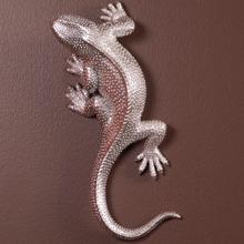 See Details - Lizard Figurine Bright Textured Nickel