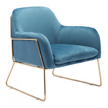 Nadir Arm Chair Blue & Gold