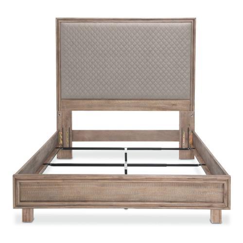 Cal King Panel Bed Slate Gray (3 Pc)