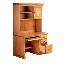 Forest Designs Traditional Oak Desk & Hutch: 48W x 72h