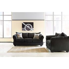 Darcy Sofa & Loveseat Black