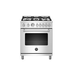 Bertazzoni30 inch Dual Fuel, 5 Burners, Electric Oven Stainless Steel
