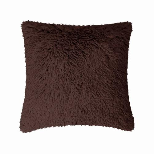 Fun Fur Long Hair Cushion - Ivory
