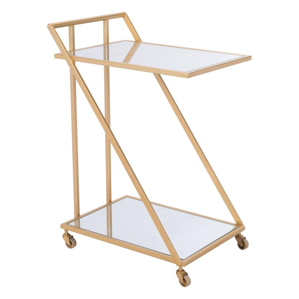See Details - Alto Bar Cart Mirror & Gold