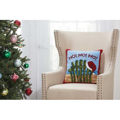 "Home for the Holiday Yx095 Multicolor 18"" X 18"" Throw Pillow"