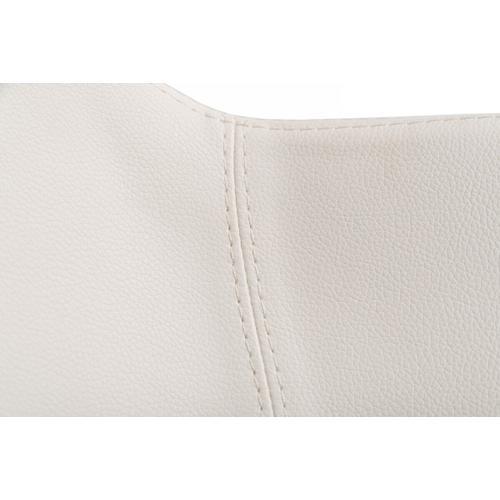 Gallery - Modrest Adhil - Modern White Leatherette Bar Stool