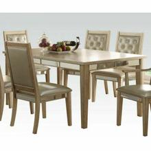 ACME Voeville Dining Table - 61005 - Antique Silver
