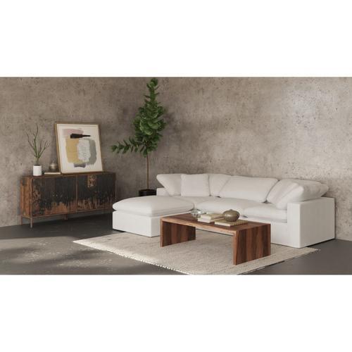 Moe's Home Collection - Terra Condo Corner Chair Livesmart Fabric Cream