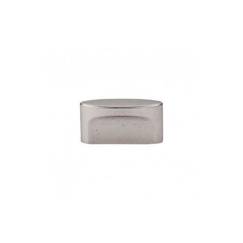 Oval Slot Knob 1 1/2 Inch (c-c) - Pewter Antique