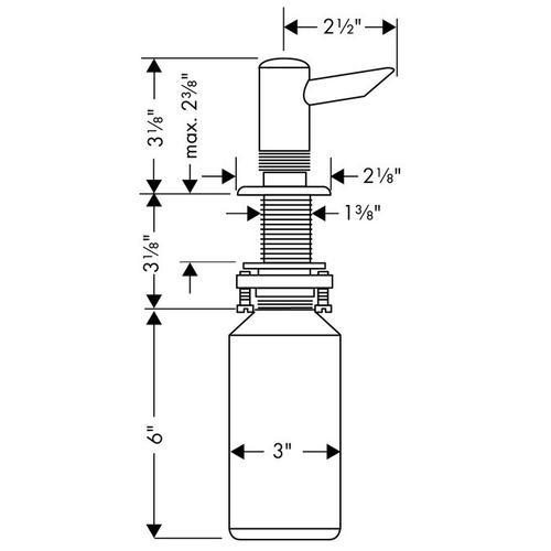 Stainless Steel Finish Soap Dispenser