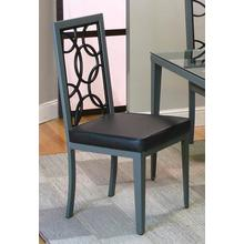 Odessa Stainless Steel/blk Chairs 2pk