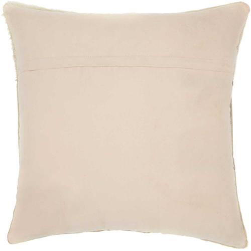 """Natural Leather Hide S2432 Celadon 20"""" X 20"""" Throw Pillow"""