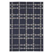 """Finesse-Tower Court Navy - Rectangle - 3'11"""" x 5'6"""""""