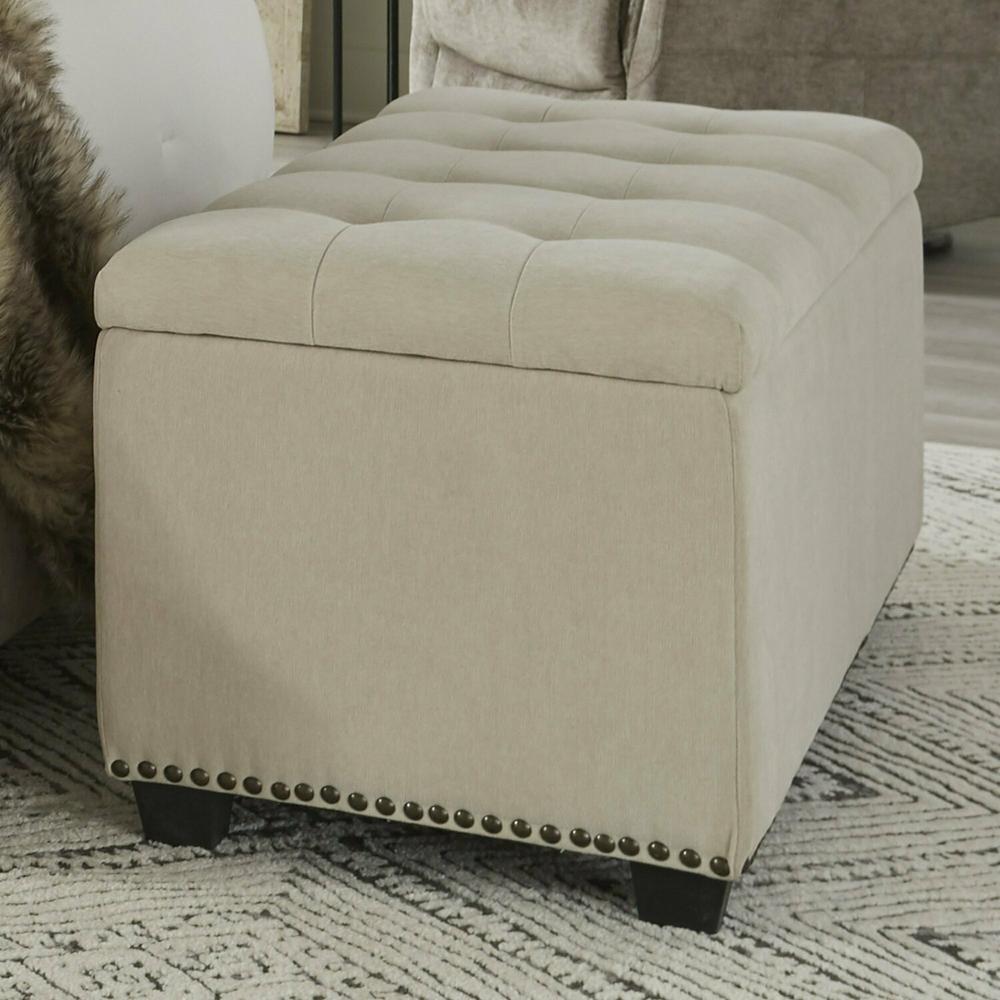 See Details - CHLOE - MERINGUE Storage Bench