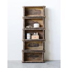 "Product Image - 12""L x 4""W x 29""H Found Wood Brick Mould Shelf w/ 5 Shelves"