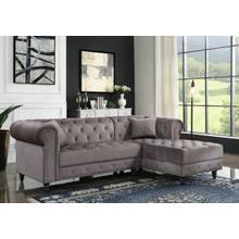 ACME Sectional Sofa w/2 Pillows - 57325