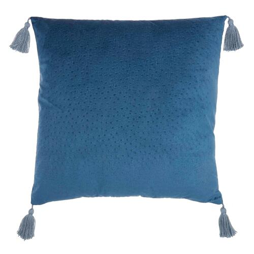"Life Styles Et093 Navy 24"" X 24"" Throw Pillow"