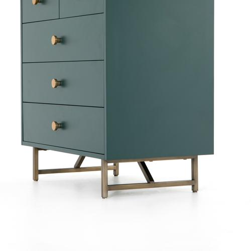 Juniper Green Finish Van 5 Drawer Dresser