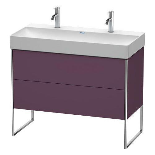 Product Image - Vanity Unit Floorstanding, Aubergine Satin Matte (lacquer)