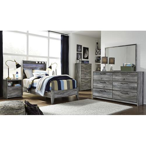 Baystorm - Gray 2 Piece Bed (Twin)