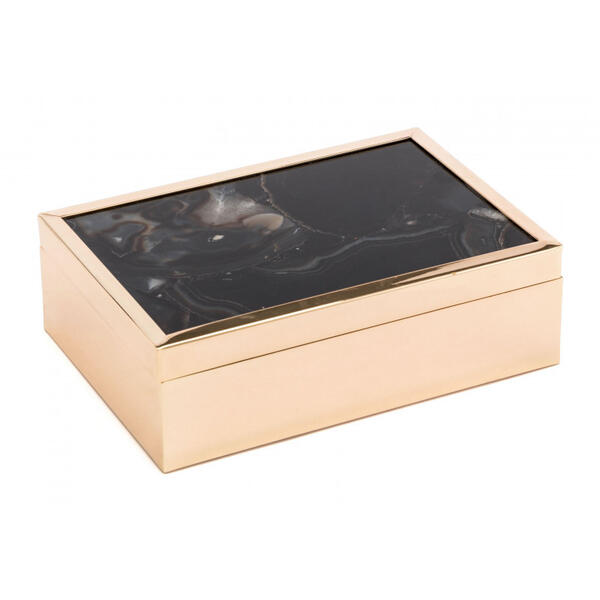 Large Stone Box Black