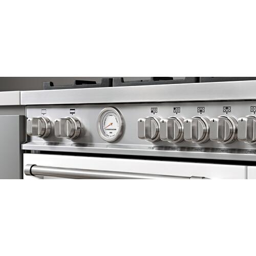 Bertazzoni - 48 inch All Gas Range, 6 Brass Burner and Griddle Stainless Steel