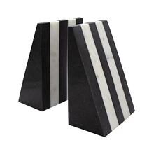 Pair of Black and White Marble Bookends