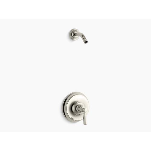 Kohler - Vibrant Polished Nickel Rite-temp Shower Valve Trim With Metal Lever Handle, Less Showerhead