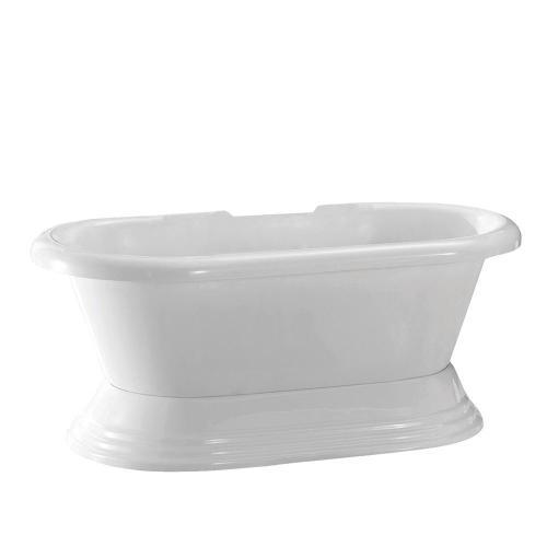 "Calypso 60"" Acrylic Double Roll Top Tub on Base - Tap Deck - 7"" Rim Holes"