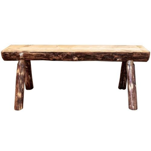 Montana Woodworks - Glacier Country Collection Half Log Bench