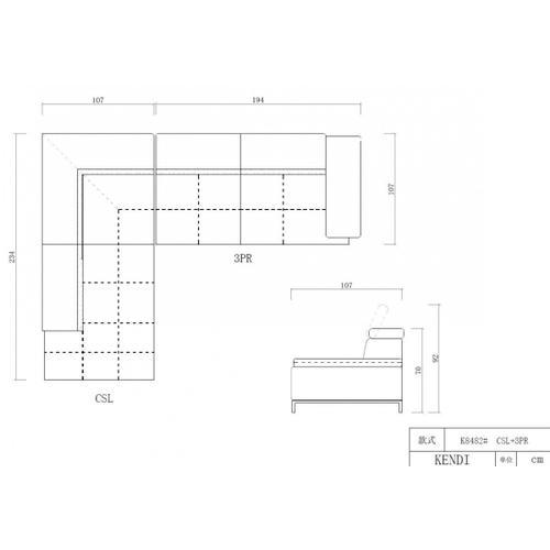VIG Furniture - Divani Casa Citadel - Modern Orange Italian Leather Left Facing Sectional Sofa