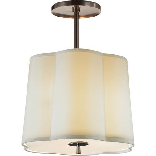 Visual Comfort - Barbara Barry Simple 3 Light 16 inch Bronze Hanging Shade Ceiling Light