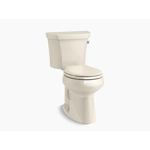 Almond Two-piece Round-front 1.28 Gpf Chair Height Toilet With Right-hand Trip Lever and Insulated Tank