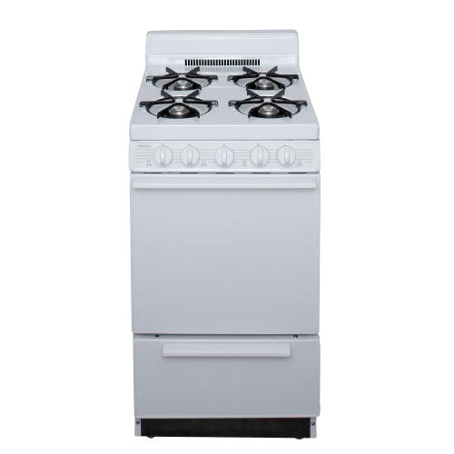 View Product - 20 in. Freestanding Battery-Generated Spark Ignition Gas Range in White