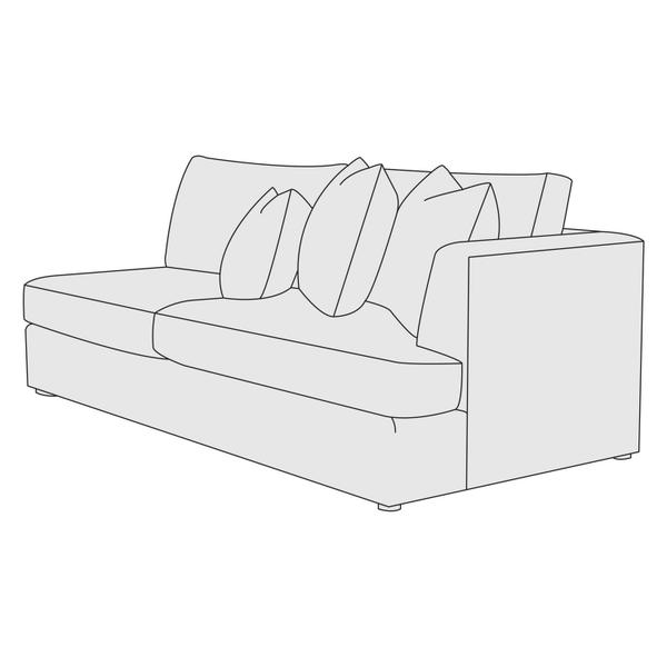 Sydney Right Arm Loveseat