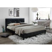 See Details - Jester Tufted Upholstered Queen Bed, Black