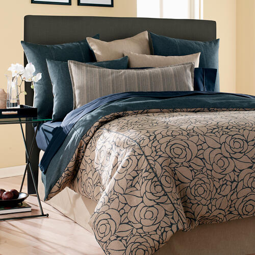 FQ Slipcovered Headboard Sterling Charcoal (Base and Cover Included)