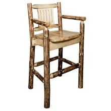 Glacier Country Collection Captains Barstool with Back