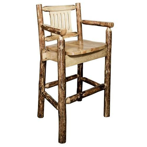 Montana Woodworks - Glacier Country Collection Captains Barstool with Back