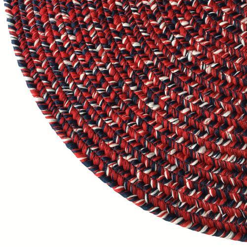 Team Spirit Crimson Navy Braided Rugs