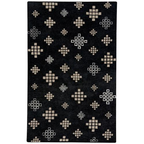 Glace Black Cream Hand Tufted Rugs