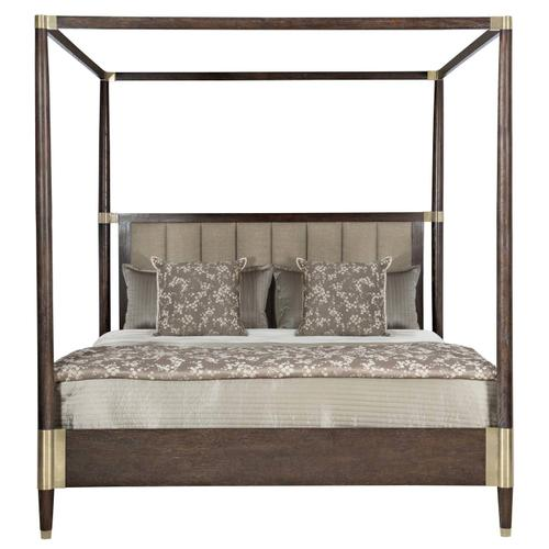 Queen Clarendon Canopy Bed in Arabica (377)