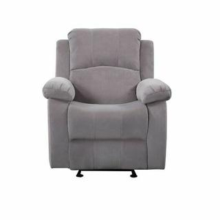 ACME Rauf Rocker Recliner (Motion) - 54452 - Contemporary - Velvet, Frame: Wood (), Foam (D), Metal Reclining Mechanism - Gray Velvet